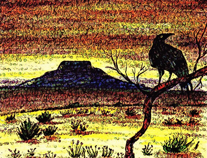 """Tucumcari Crow Van Gogh"" KC Krimsin - The KC Krimsin Kollection"