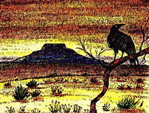 """Tucumcari Crow Van Gogh"" KC Krimsin"