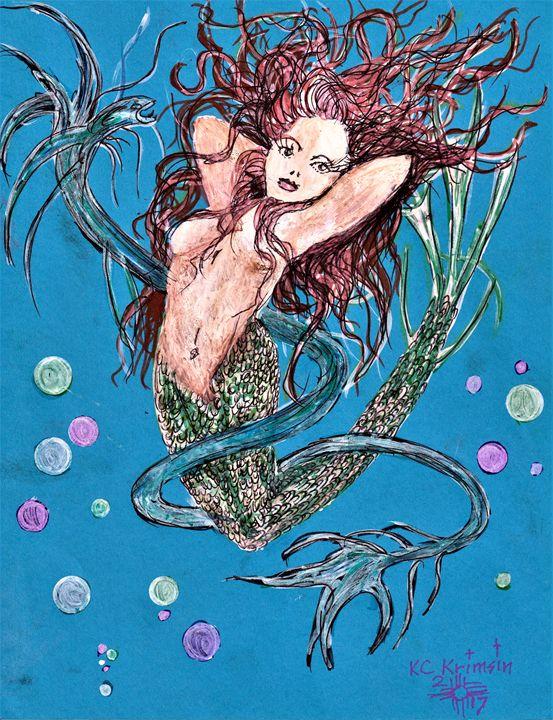 """""""Lady Blue Fin"""" by KC Krimsin, 2017 - The KC Krimsin Kollection"""