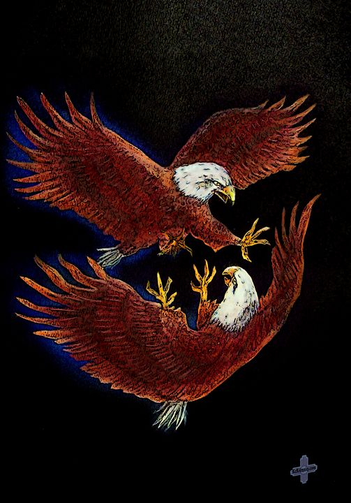 Eagle Mates (revised) by KC Krimsin - The KC Krimsin Kollection