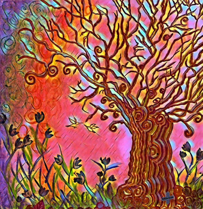 Swirling Tree of Happiness - The KC Krimsin Kollection