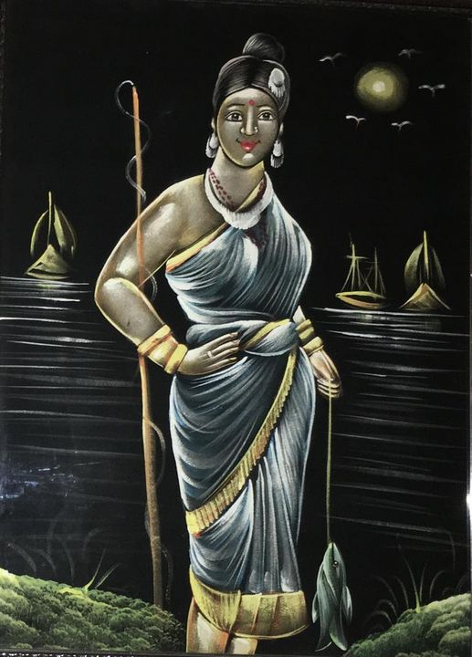 fisherwoman - KT Paintings