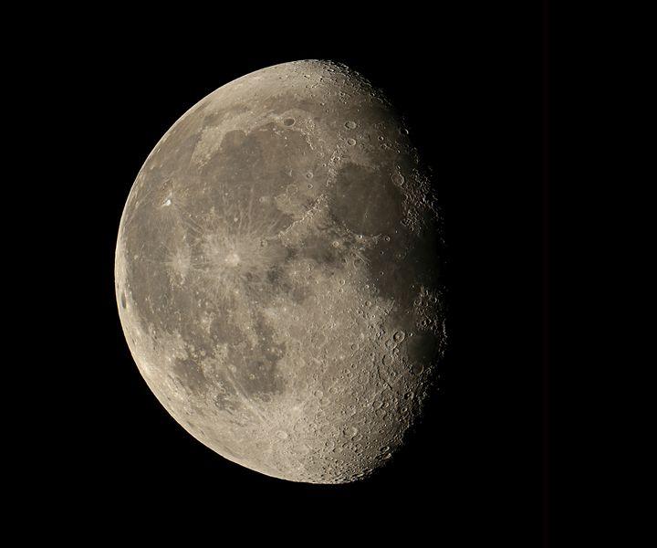 Moon 3/4 Full Waining - 4 AM Photography