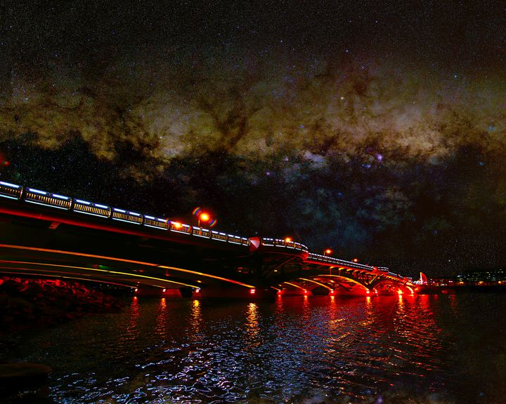 Bridge under the Milky Way - 4 AM Photography