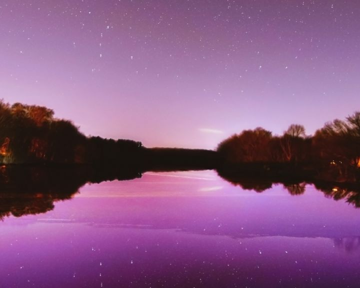 Hovey Pond after Sunset - 4 AM Photography