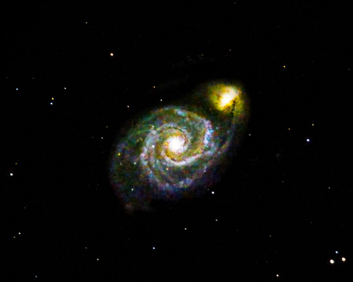 Whirlpool Galaxy M51 and companion - 4 AM Photography