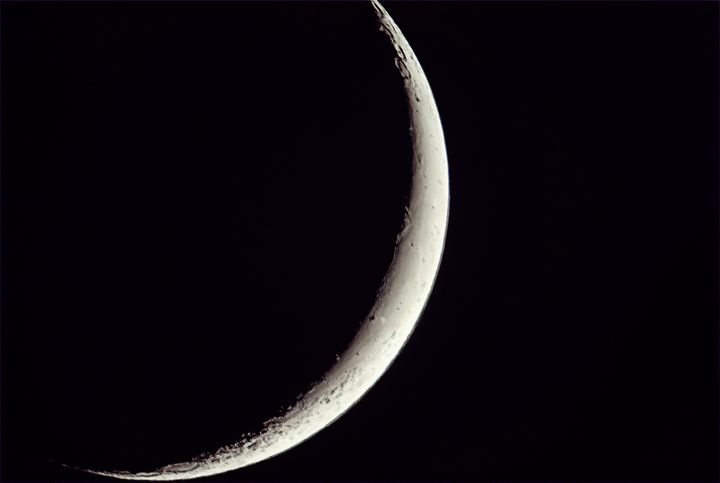 Waxing Crescent Moon - 4 AM Photography