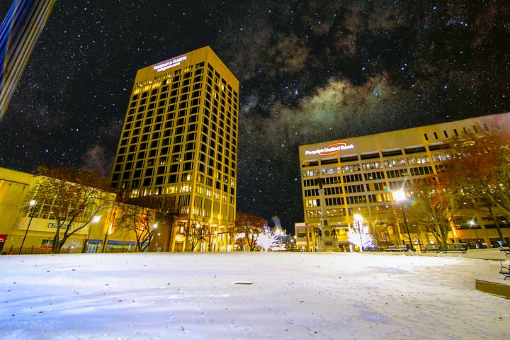 Milky Way over Worcester - 4 AM Photography