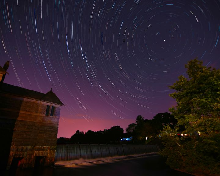 Star Trails at Stearnes Reservoir #1 - 4 AM Photography
