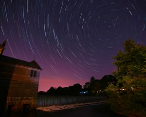 Star Trails at Stearnes Reservoir #1
