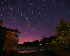 Star Trails at Stearnes Reservoir #1