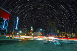 Star Trails over Worcester MA