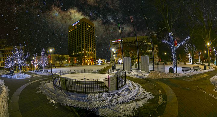 Milky Way over Worcester Common - 4 AM Photography