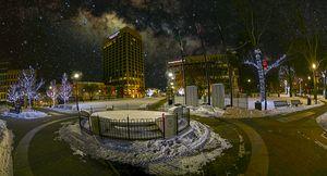 Milky Way over Worcester Common