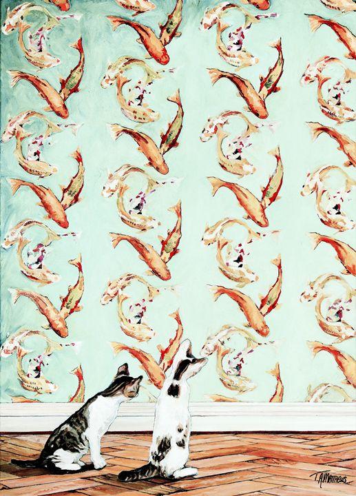 Curious Kittens - T.A.Matthews - The Cat Gallery