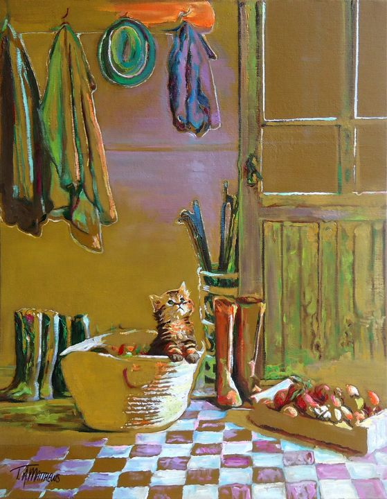 Back from the Orchard - T.A.Matthews - The Cat Gallery