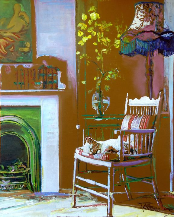 Country cottage kitty - T.A.Matthews - The Cat Gallery