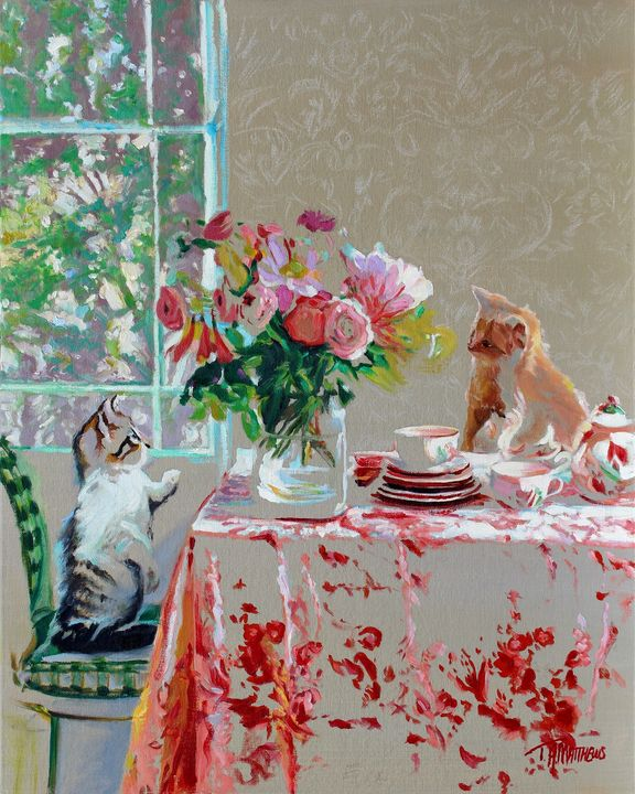 Tea For Two - T.A.Matthews - The Cat Gallery