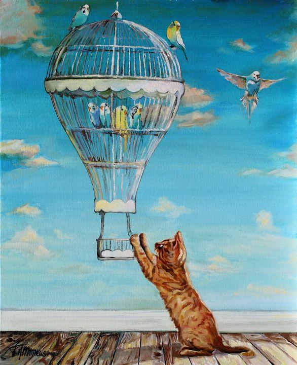 Up, Up & Away - T.A.Matthews - The Cat Gallery