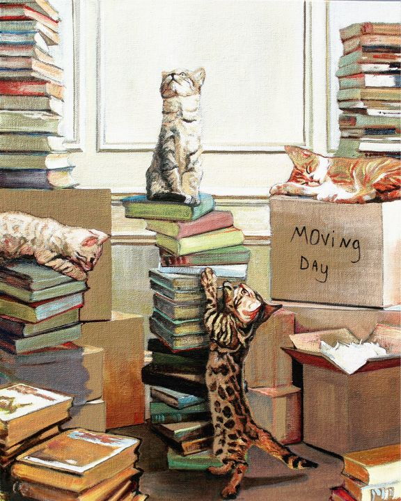 Moving Day - T.A.Matthews - The Cat Gallery