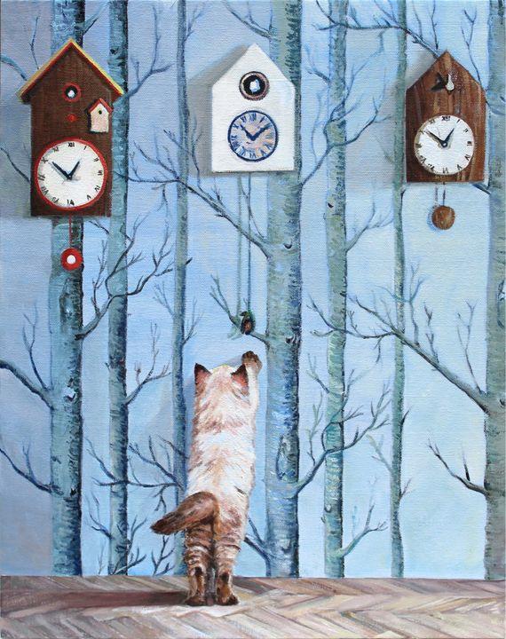 Cuckoo Kitty - T.A.Matthews - The Cat Gallery