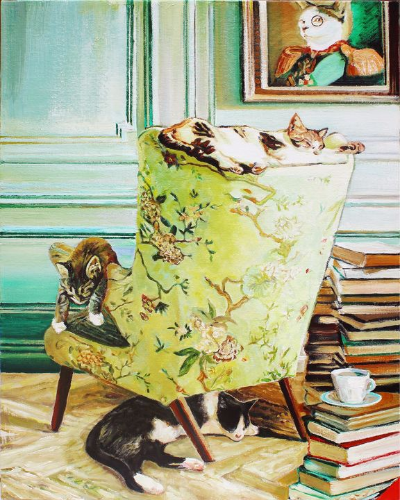 Literately Lazy #4 - T.A.Matthews - The Cat Gallery