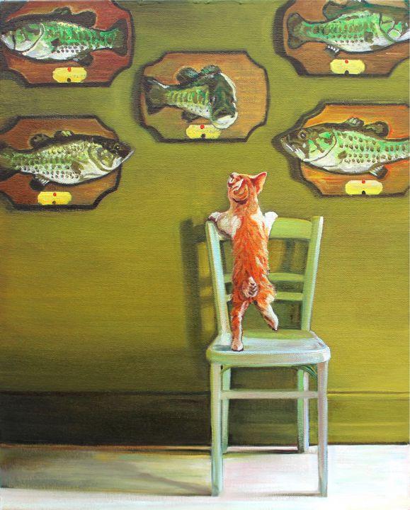 Billy Bass Wall - T.A.Matthews - The Cat Gallery
