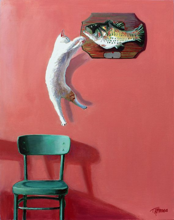 In the pink - T.A.Matthews - The Cat Gallery