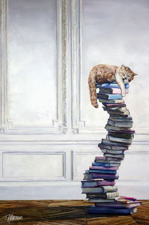 Literately Lazy - T.A.Matthews - The Cat Gallery