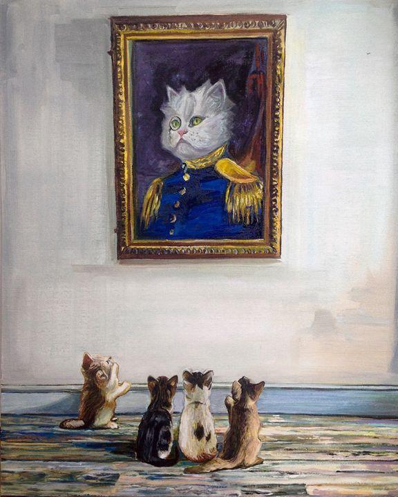 Portrait of Sgt. kitty - T.A.Matthews - The Cat Gallery