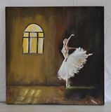 This painting shows a ballet dancer,