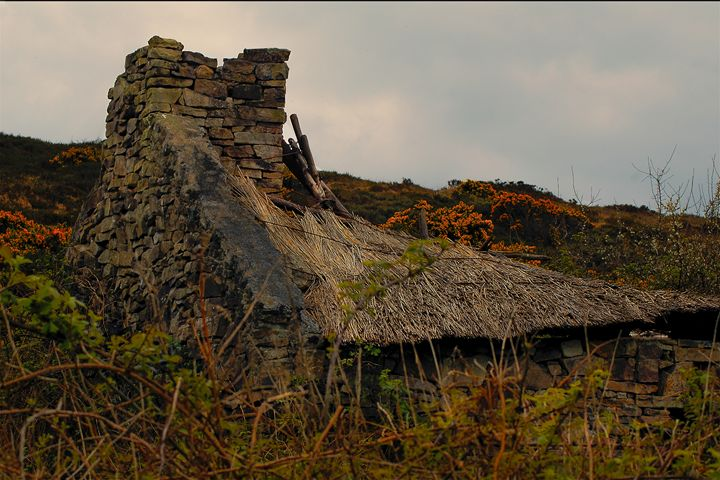 Old Irish Thatched cottage - Photowitch