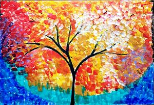 Acrylic Paint Tree