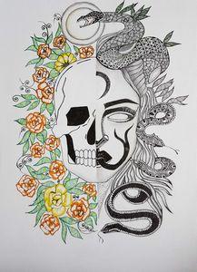 Skull/Mendusa Art Work