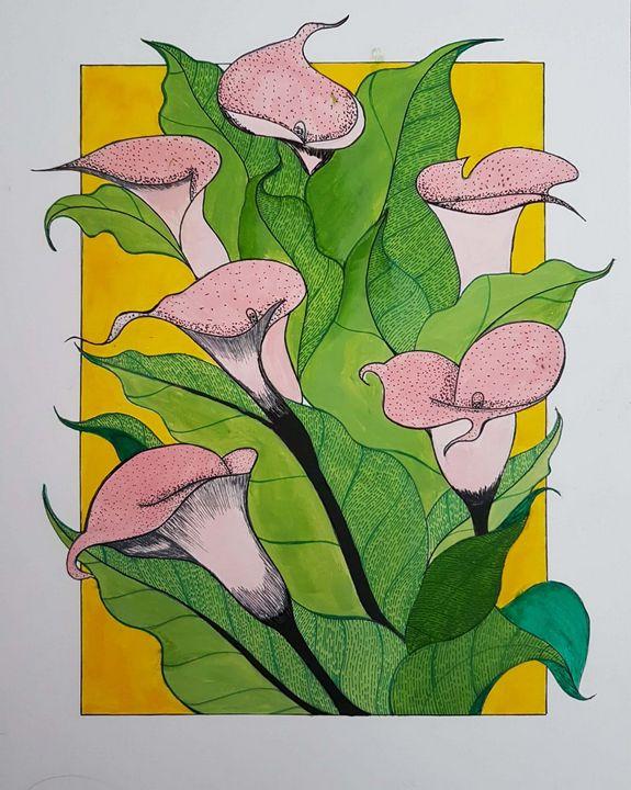 Acrylic Paint flowers - Subhrata Art Gallery