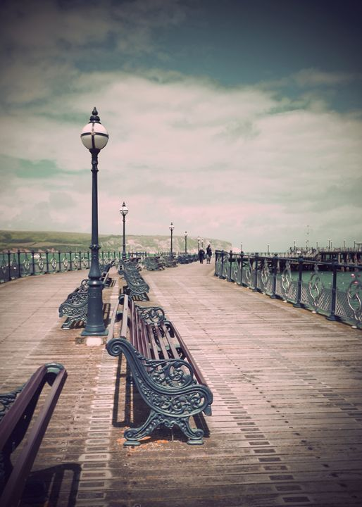 Swanage Pier Antiqued - Linsey Williams