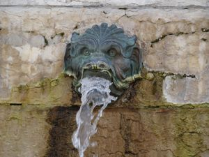Fountain with Lyon head