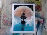 Beautiful Ship in Moon Light