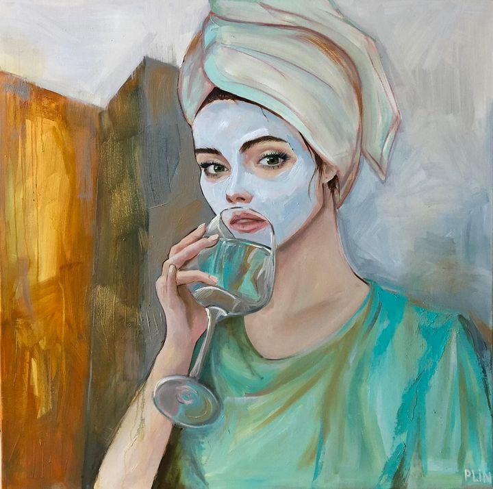 Contemporary oil painting - Polina Vik