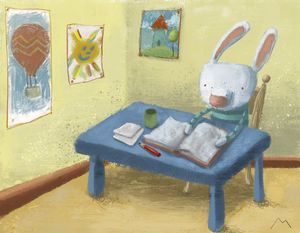 Bunny School - Molina Art