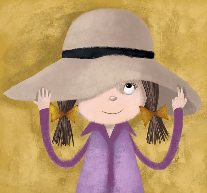 Little girl with hat - Molina Art
