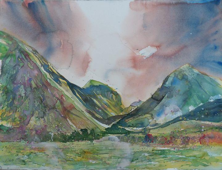 Achnacon and Lower Glencoe - Robertkh238Art