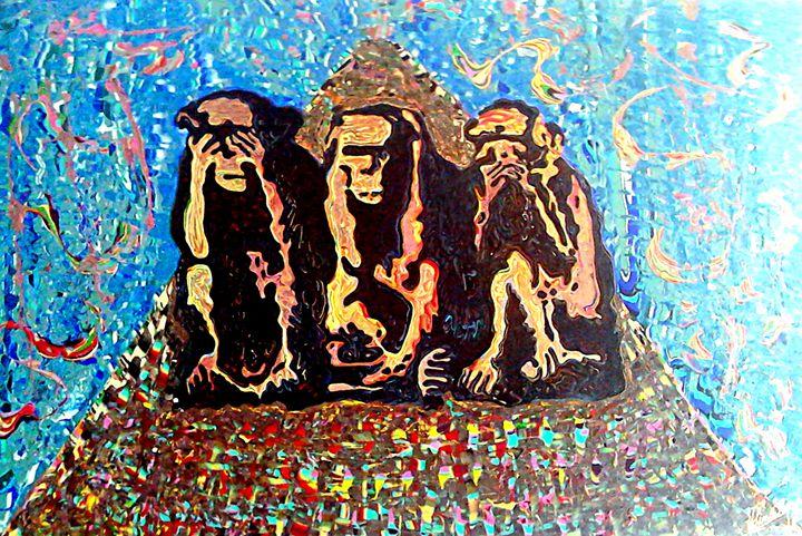 3 monkeys - OCTAVIANISM by Ryan Octavian ilinca
