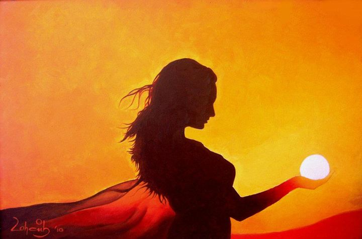 Girl in Sunset - Zohaib Ahmed