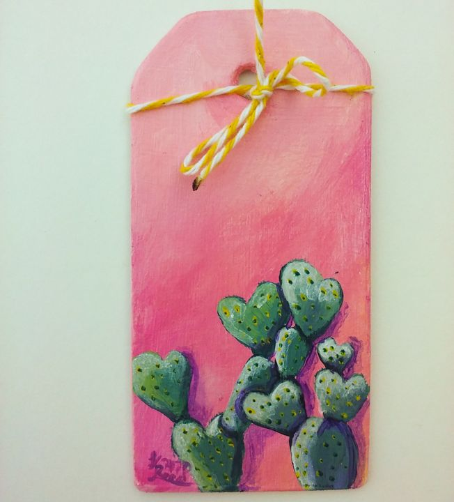 Heart cactus - Art By Katherine
