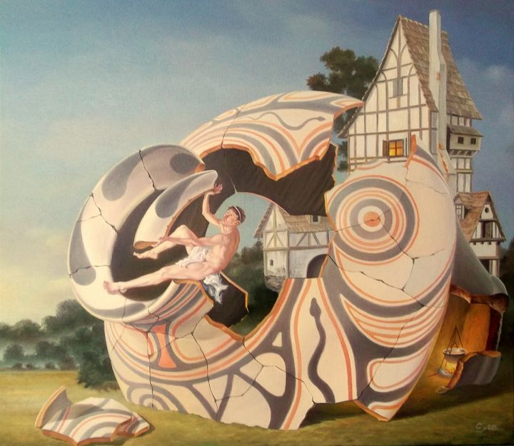 Restoring the past - Surreal paintings - Gyuri Lohmuller