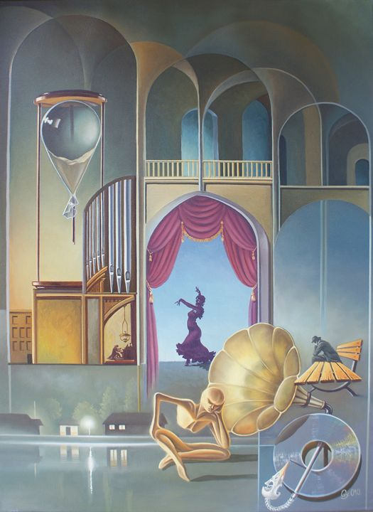 Memento mori - Surreal paintings - Gyuri Lohmuller