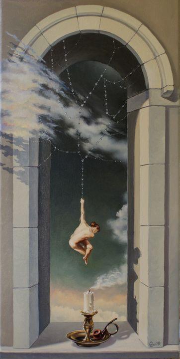 Arraignee du soir - espoir - Surreal paintings - Gyuri Lohmuller