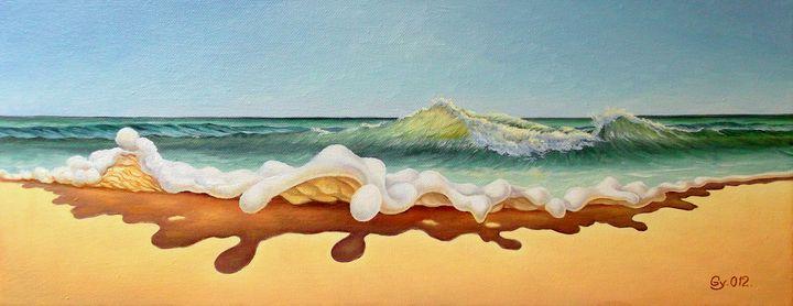 Foam study - Surreal paintings - Gyuri Lohmuller