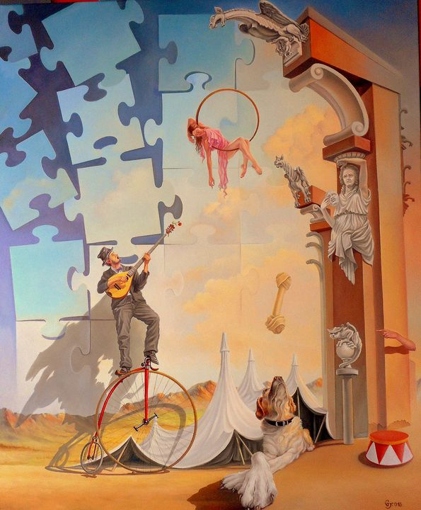 Fool of desire - Surreal paintings - Gyuri Lohmuller